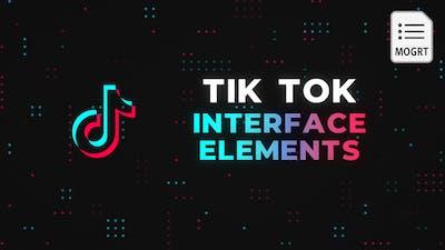 Tik Tok Interface Elements - MOGRT