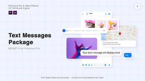 Package de messages texte l MOGRT pour Premiere Pro