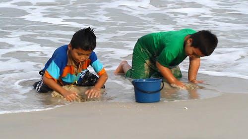 Boys And Beach
