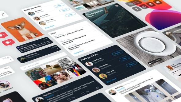 Thumbnail for Messages sur les réseaux sociaux pour After Effects