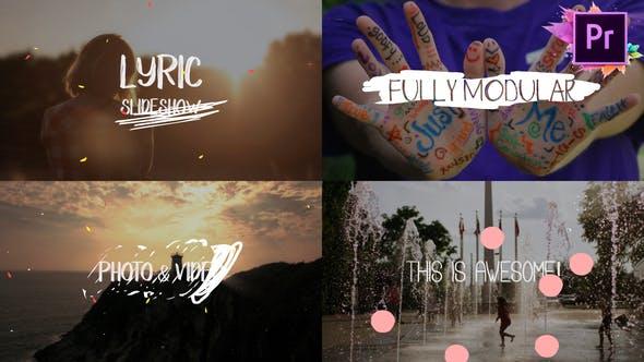 Thumbnail for Lyric Slideshow | Premiere Pro