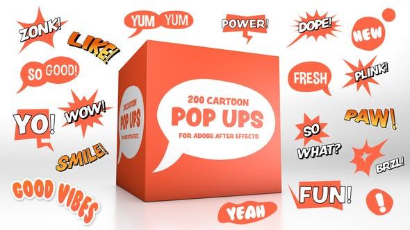 Thumbnail for Pop-up de dibujos animados