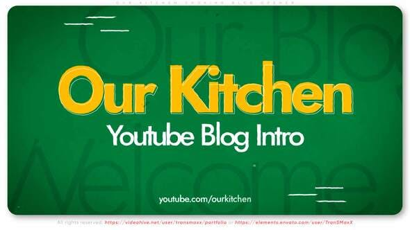 Thumbnail for Our Kitchen – Cooking Blog Opener