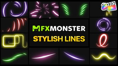Stylish Lines   FCPX