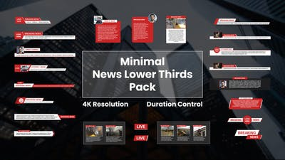 Minimal News Lower Thirds Pack