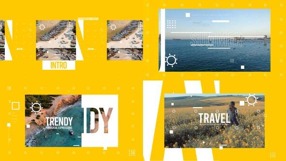 Reise-Abstraktes Intro