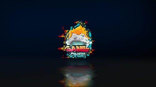 Glitch Reflection Logo Reveal