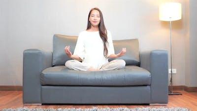 Young asian woman meditation