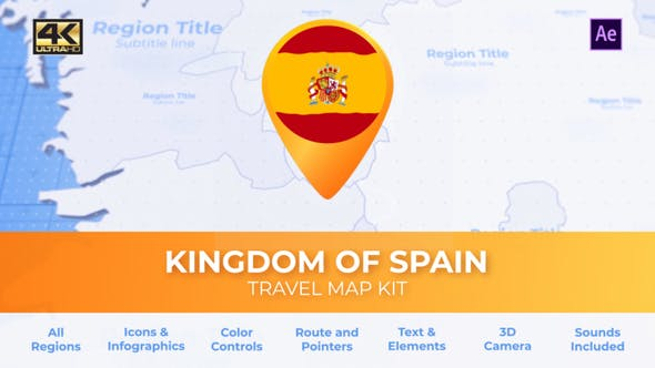 Spain Map - Kingdom of Spain Travel Map