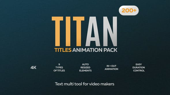 Thumbnail for Titan - 200 Animated Titles Pack