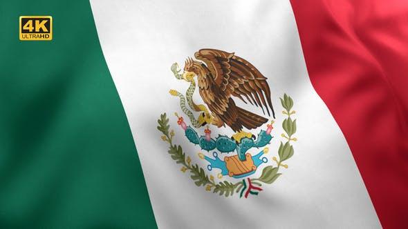 Mexico Flag / Mexican Flag - 4K