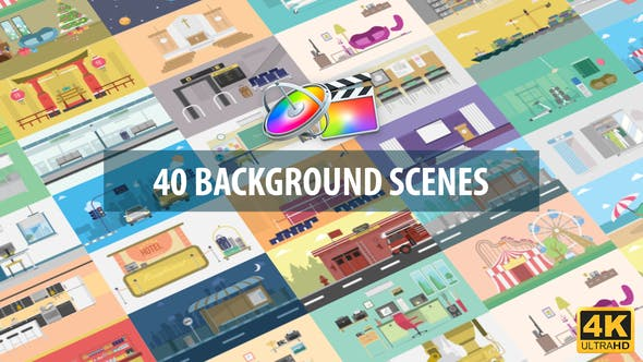 40 Mix Background Scenes | Apple Motion & FCPX