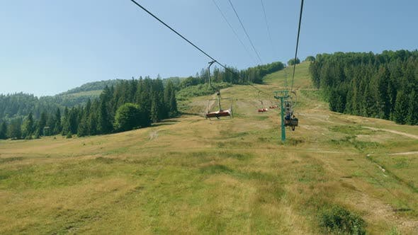 Thumbnail for Cableway in Mountain in Summer Season