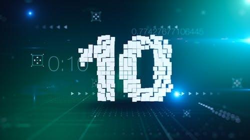 10 Second Digital Countdown