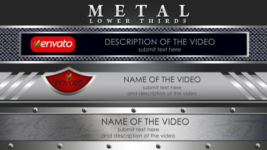 Thumbnail for Metal Lower Thirds