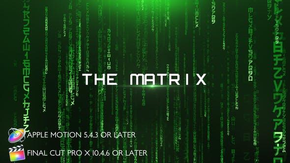Thumbnail for Die Matrix - Filmmusik titel - Apple Motion