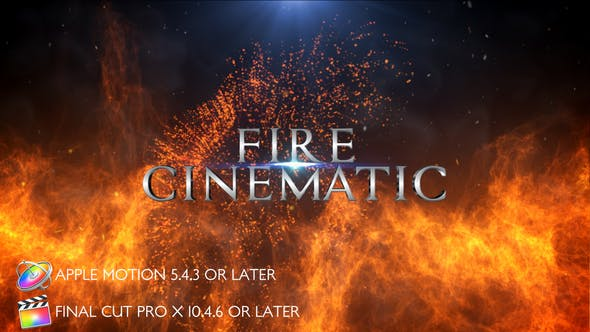 Thumbnail for Fire Cinematic Titles - Apple Motion