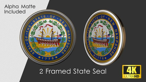 Framed Seal Of New Hampshire State