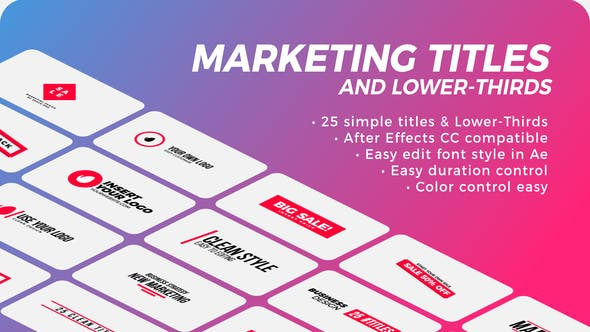 Thumbnail for Marketing Titles & Lower-Thirds