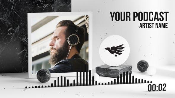 Podcast y visualizador de música