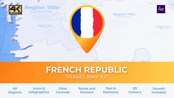 France Map - French Republic Travel Map