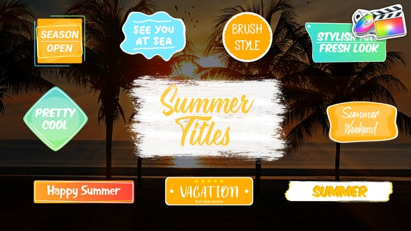 Colorful Summer Titles | FCPX