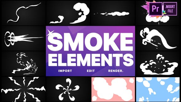 Thumbnail for Paquete de elementos de humo 05 | MOGRT