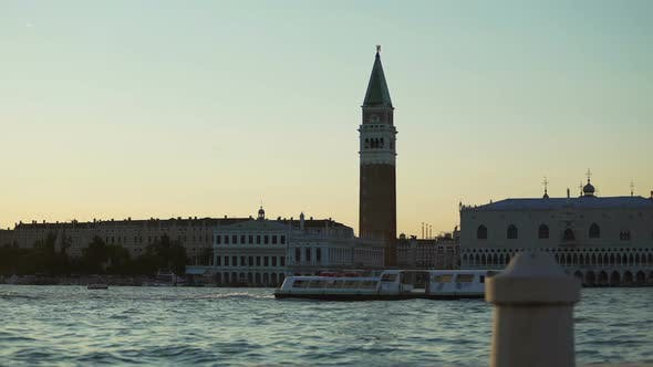 Thumbnail for Magic Hour, Panorama of Doge's Palace and Santa Maria Della Salute Church