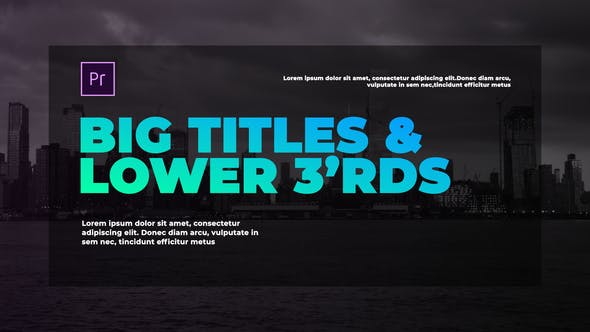 Thumbnail for Corporate Big Titles I MOGRT