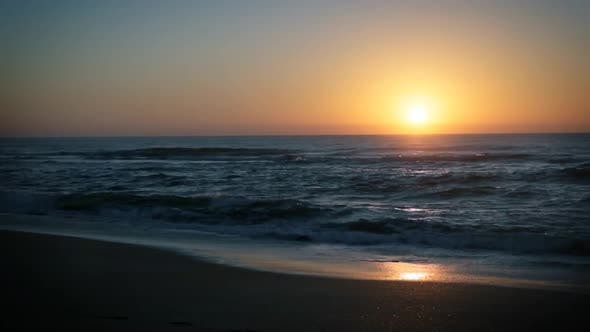 Thumbnail for Ocean Sea Sunset Beach Timelapse, Time Lapse Sunrise, Sundown, Seashore Waves.