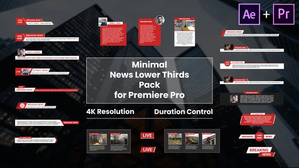 Minimal News Lower Thirds Pack for Premiere Pro