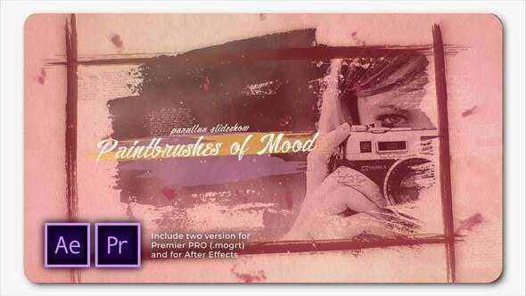 Thumbnail for Paintbrushes of Mood Parallax Slideshow