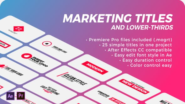 Thumbnail for Marketing Titles & Lower-Thirds | Premiere Pro