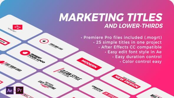 Thumbnail for Títulos de marketing y tercios inferiores | Premiere Pro