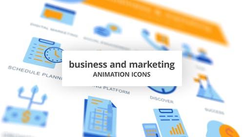Business & Marketing - Animation Icons