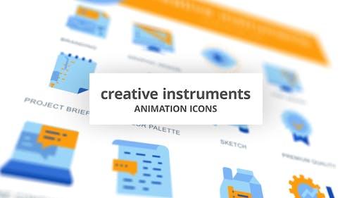 Instruments créatifs - Icones d'animation