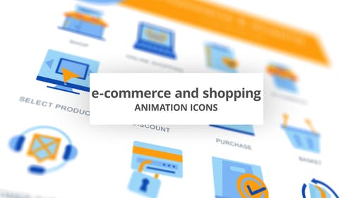 E-Commerce & Compras - Animación Íconos