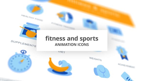 Thumbnail for Fitness & Sports - Animation Icons