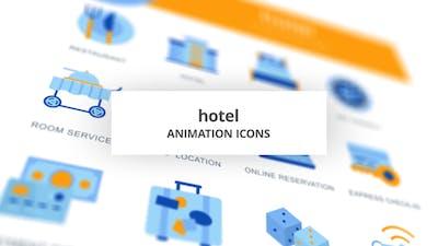 Hotel - Animation Icons