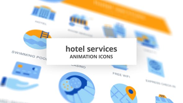 Thumbnail for Hotel Services - Animation Icons