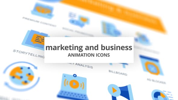 Thumbnail for Marketing & Business - Icones d'animation