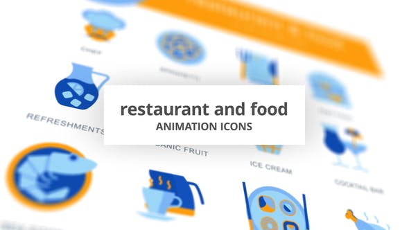 Restaurant & Essen - Animation Icons