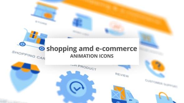 Shopping & E-Commerce - Animation Icons