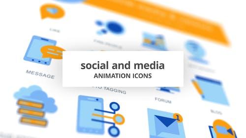 Social & Media - Animation Icons