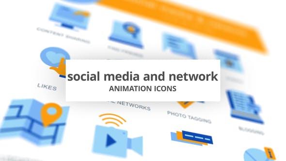 Redes y redes sociales - Íconos de animación