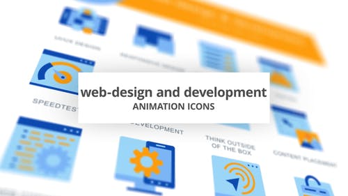 Web-Design & Development - Animation Icons