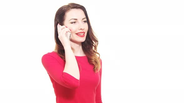 Thumbnail for Happy Female Talking On The Mobile Phone