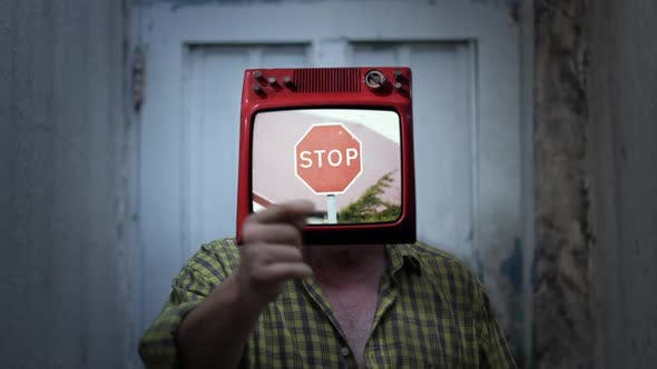 Thumbnail for Stop Sign TV Man.