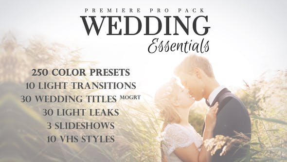 Thumbnail for Wedding Essentials Pack for Premiere Pro