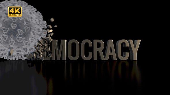 Thumbnail for Corona / Covid-19 Crushing Democracy - 4K